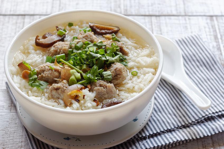 Thai Rice Soup With pork